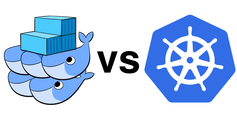docker-swarm-vs-kubernetes-logos